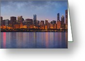Chicago Skyline Greeting Cards - Chicagos Beauty Greeting Card by Donald Schwartz