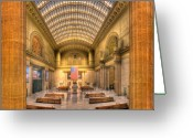 Train Photo Greeting Cards - Chicagos Union Station Greeting Card by Steve Gadomski