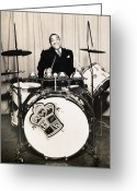 1930s Greeting Cards - Chick Webb (1909-1939) Greeting Card by Granger