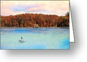 Blue Heron Photo Greeting Cards - Chickasaw Bridge Greeting Card by Jai Johnson