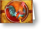 Vintage Mixed Media Greeting Cards - Chicken Little Greeting Card by Joel Payne