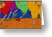 Roller Skates Greeting Cards - Chicken Walk Greeting Card by Michele Sleight
