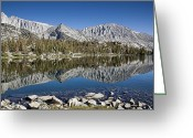 Mammoth. Greeting Cards - Chickenfoot Lake with reflection Greeting Card by Kelley King