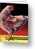 Abstract Realism Painting Greeting Cards - Chickenscape II Greeting Card by Bob Coonts