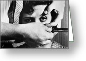 Film Still Greeting Cards - Chien Andalou, 1929 Greeting Card by Granger