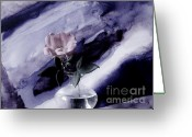 Pinkish Greeting Cards - Chiffon Rose Greeting Card by Marsha Heiken