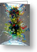 Sculture Greeting Cards - Chihuly Union Station Greeting Card by Randall Weidner