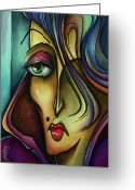 Mood Art Painting Greeting Cards - Chil Greeting Card by Michael Lang