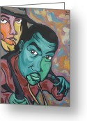 Kanye West Painting Greeting Cards - Child Like Innocence  Greeting Card by Jason JaFleu Fleurant