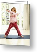 Body Image Greeting Cards - Childhood Exercise Greeting Card by Ian Boddy