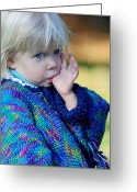 Portraits Photo Greeting Cards - Childhood Greeting Card by Lisa  Phillips