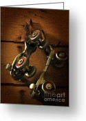 Old Skates Greeting Cards - Childhood Memories Greeting Card by Fran Riley