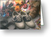 Shoes Greeting Cards - Childhood memories Greeting Card by Garry Gay