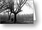 Tree Limbs Greeting Cards - Childhood Memories in Black and White Greeting Card by Benanne Stiens