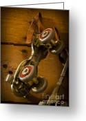 Antique Skates Greeting Cards - Childhood Moments Greeting Card by Fran Riley