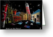 Magic Pastels Greeting Cards - Children Book Illustration Venice Italy - Libri Illustrati per Bambini Venezia Italia Greeting Card by Arte Venezia