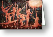 Impressionist Mixed Media Greeting Cards - Children Of The Light Greeting Card by Anthony Falbo