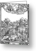 Ebb And Flow Greeting Cards - Children Of The Moon, 16th Century Greeting Card by Photo Researchers
