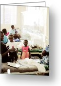 Uganda Greeting Cards - Childrens Hospital Ward, Uganda Greeting Card by Mauro Fermariello