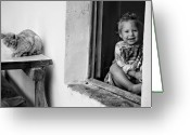 Kid Photo Greeting Cards - Childs smile Greeting Card by Justyna Lorenc