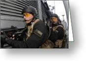 Transceiver Greeting Cards - Chilean Special Forces Greeting Card by Stocktrek Images