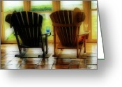 Rocking Chairs Greeting Cards - Chillax Greeting Card by Nada Frazier
