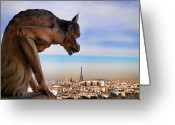 Cities Art Greeting Cards - Chimere Greeting Card by Arnaud Bertrande Photographie
