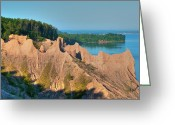 Guywhiteleyphoto.com Greeting Cards - Chimney Bluffs 1750 Greeting Card by Guy Whiteley