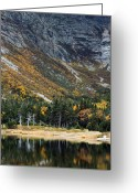 Baxter Park Greeting Cards - Chimney Pond Baxter State Park Maine  Greeting Card by Brendan Reals