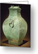 4th Greeting Cards - China: Bronze Vessel Greeting Card by Granger