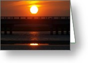 Peaceful Tapestries - Textiles Greeting Cards - Chincoteague Island Bay Greeting Card by Kim