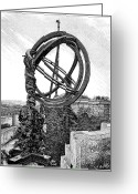 Armillary Greeting Cards - Chinese Armillary Sphere, 17th Century Greeting Card by