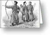 Archer Greeting Cards - Chinese Army: Archer, 1895 Greeting Card by Granger