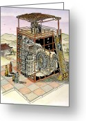 Armillary Greeting Cards - Chinese Astronomical Clock Greeting Card by Granger
