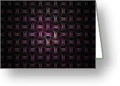 Fractal Art Greeting Cards - Chinese Finger Trap Weave Greeting Card by David April