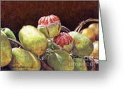 Lynette Cook Greeting Cards - Chinese Grapefruit Greeting Card by Lynette Cook
