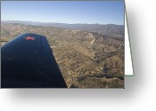 California Landscapes Greeting Cards - Chinese-made Nanchange Cj6 Airplane Greeting Card by Rich Reid