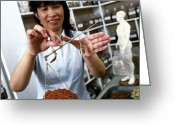 Womanly Greeting Cards - Chinese Medicine Greeting Card by Tek Image