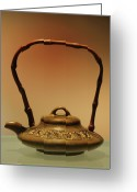 Kettle Greeting Cards - Chinese Teapot - A symbol in itself Greeting Card by Christine Till