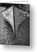 Lake Michgan Greeting Cards - Chippewa Historic Canoe Greeting Card by Brian Mollenkopf