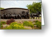 Cards Gallery Greeting Cards - Chisholm Trail Monument Greeting Card by Toni Hopper