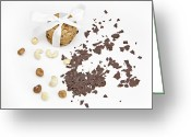 Nut Chocolate Greeting Cards - Chocolate biscuits Greeting Card by Joana Kruse