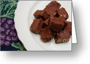 Chocolate Fudge Greeting Cards - Chocolate Cheese With Nuts Greeting Card by Andee Photography