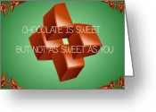 Pencil Drawing Digital Art Greeting Cards - Chocolate is Sweet Greeting Card by Garry Staranchuk