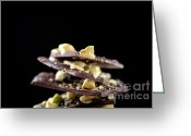 Chocolate Fudge Greeting Cards - Chocolate with pistacios Greeting Card by Kati Molin