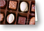 Choice Greeting Cards - Chocolates closeup Greeting Card by Carlos Caetano