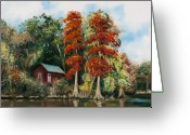 Rick Mckinney Greeting Cards - Choctawhatchee River Camp Greeting Card by Rick McKinney