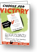 Warishellstore Greeting Cards - Choose For Victory  Greeting Card by War Is Hell Store