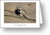Beach Art Greeting Cards - Chopsticks Greeting Card by Peter Tellone