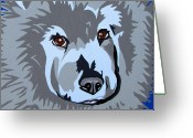 Contemporary Dog Portraits Greeting Cards - Chow Chow Greeting Card by Slade Roberts